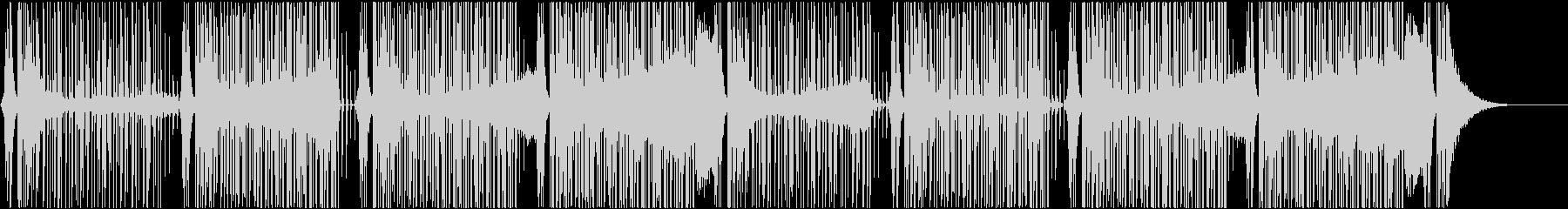 パーカッションと四つ打ちのクールなBGMの未再生の波形