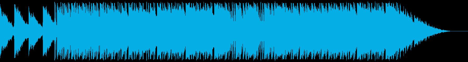シンセを使ったR&B風の不思議な曲の再生済みの波形