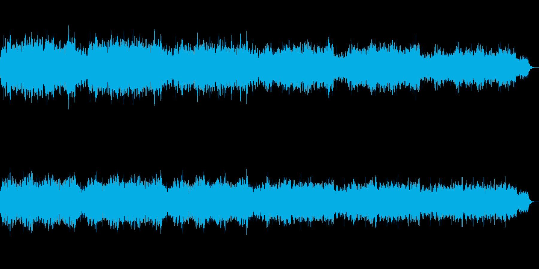 ストリングス、木管、合唱、ハープの幻想曲の再生済みの波形