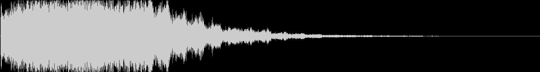 エレクトロ風:場面切り替えロボットの音2の未再生の波形