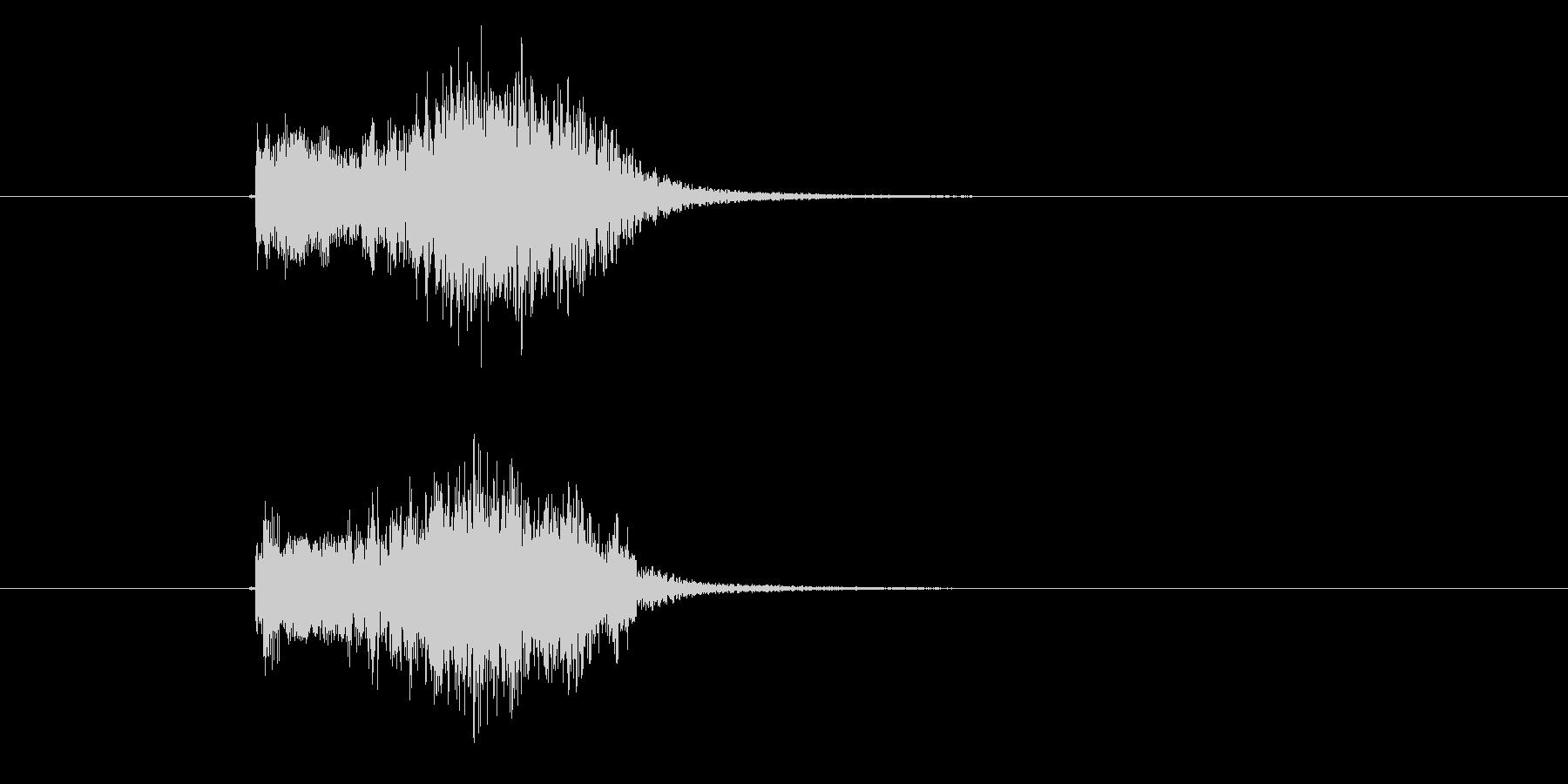 ヒューン(飛ぶ、速い、通過)の未再生の波形
