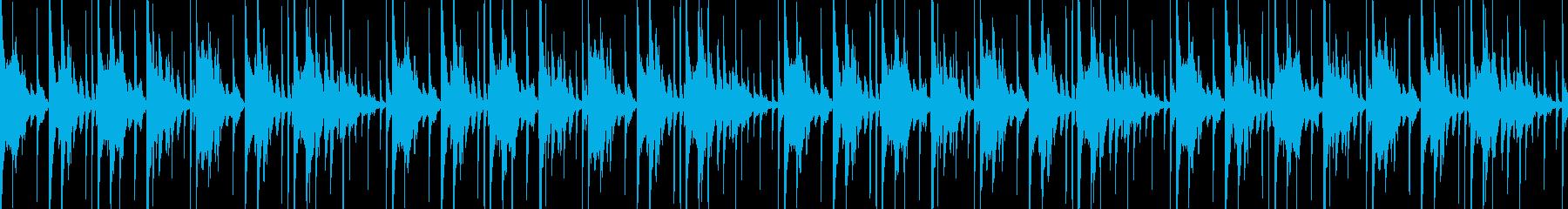 軽快なアルトサックスのループ素材の再生済みの波形