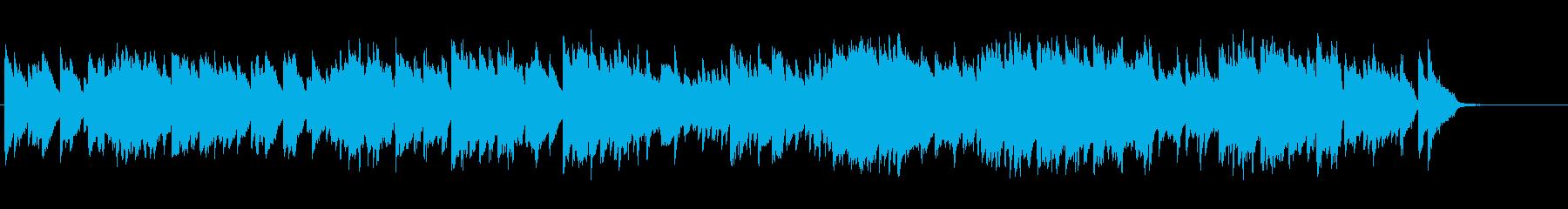 流れる様にメロディーが進んでいくピアノ曲の再生済みの波形