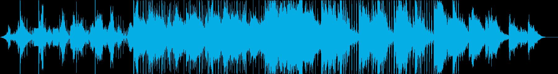壮大で綺麗な電子サウンドの楽曲の再生済みの波形