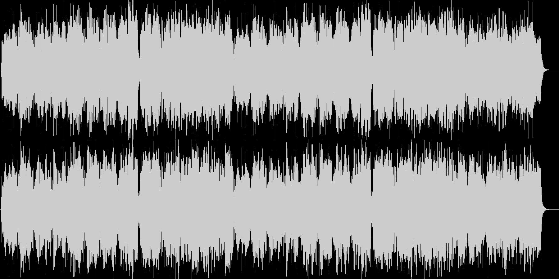ゆったり流れるシンセサイザー・ギター曲の未再生の波形
