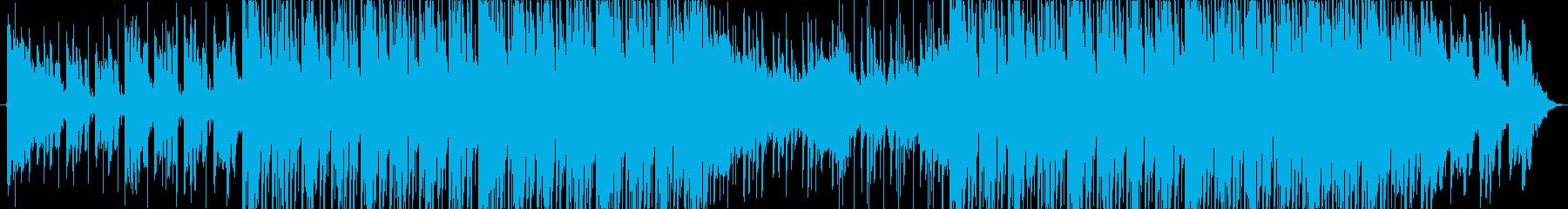 シンセピアノ広告向け切ないハウストラックの再生済みの波形