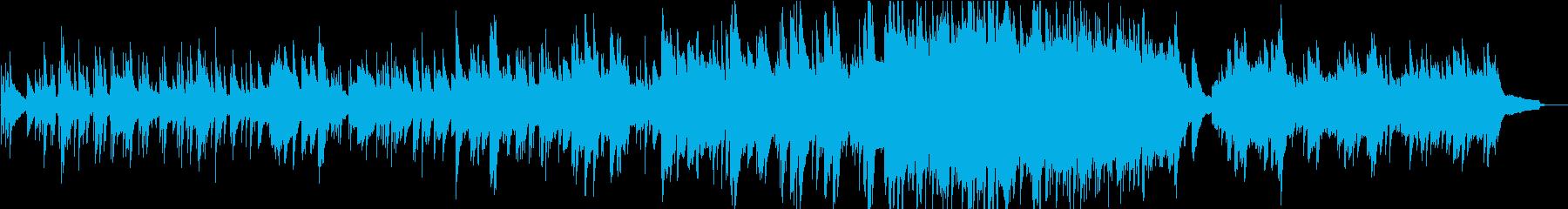 透明感のあるピアノの再生済みの波形