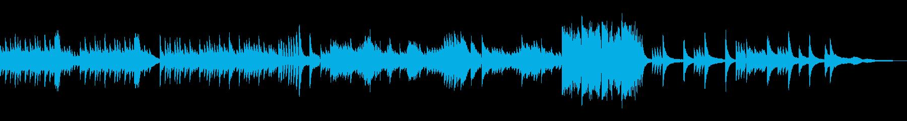 止まる事ない流れをイメージしたピアノソロの再生済みの波形