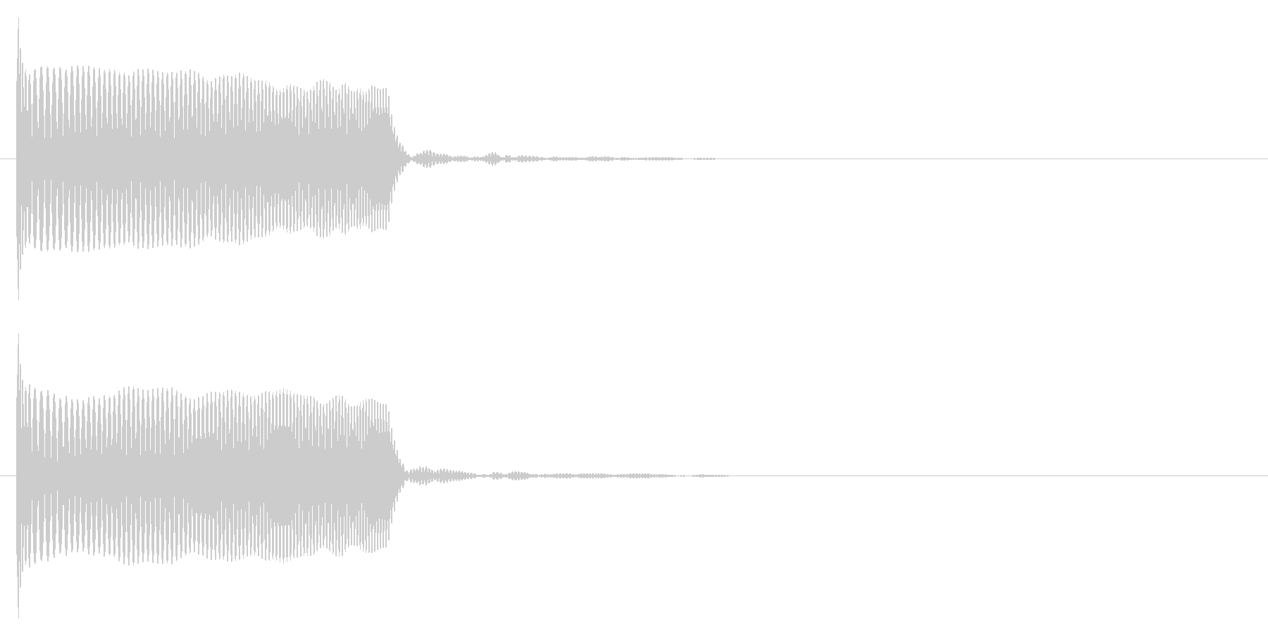 クラブ系 決定音05(シンセ)の未再生の波形