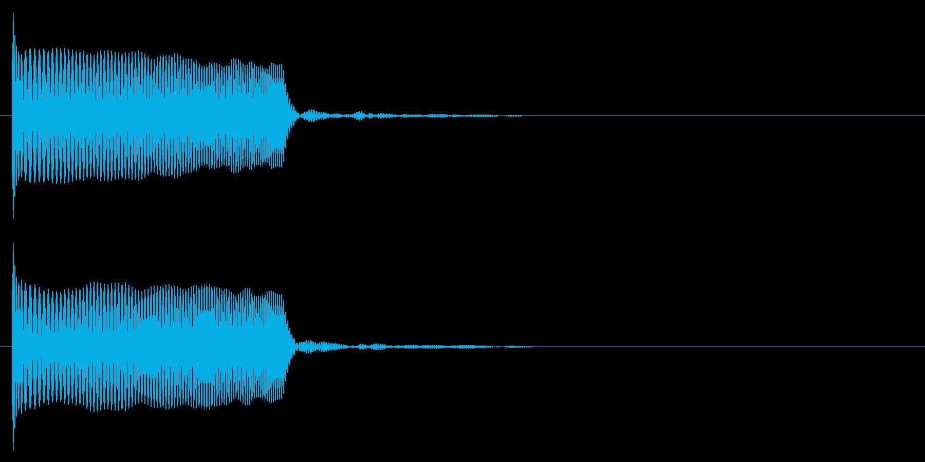 クラブ系 決定音05(シンセ)の再生済みの波形