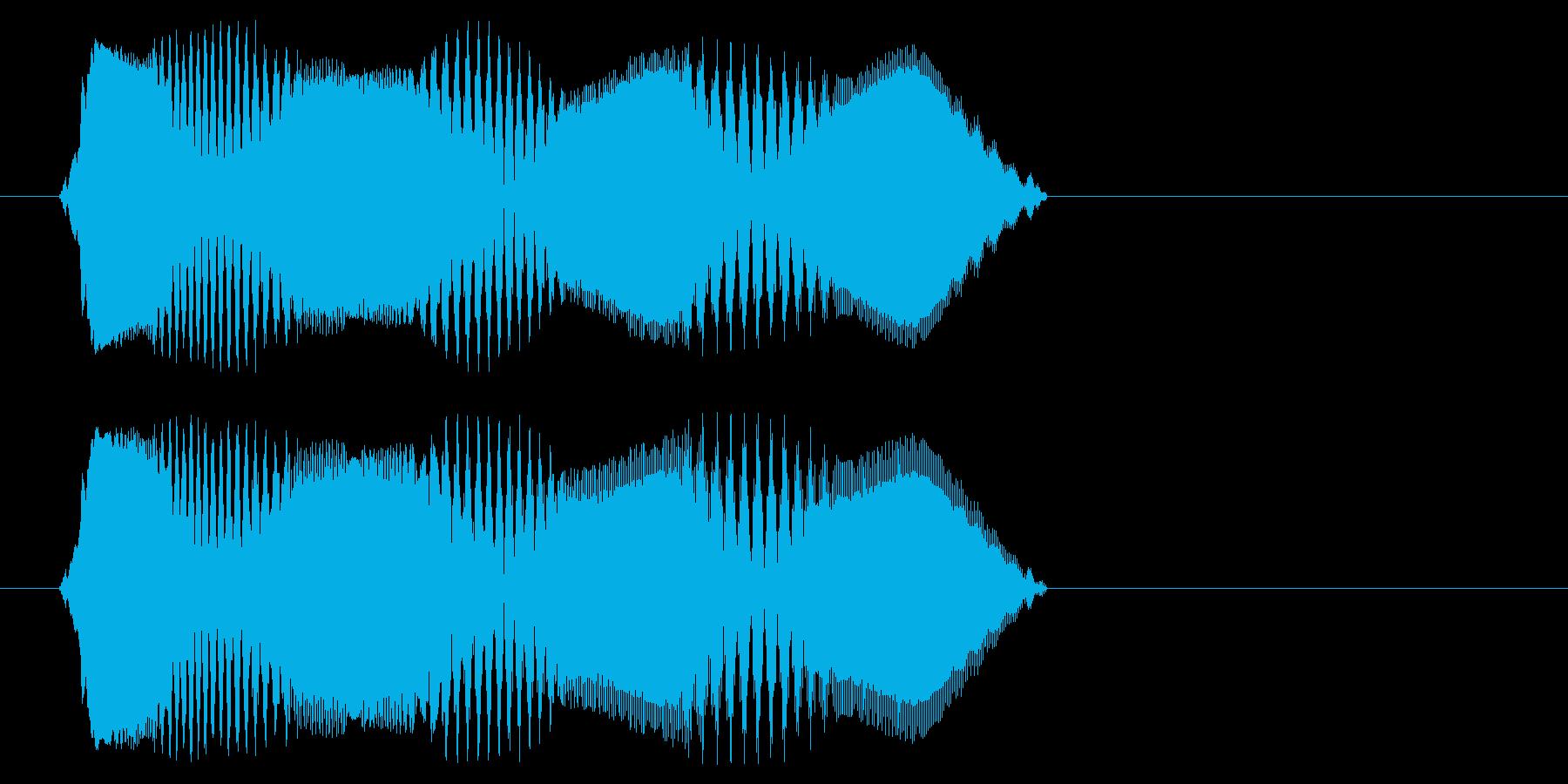 チュン(早朝に響くスズメの鳴き声)の再生済みの波形