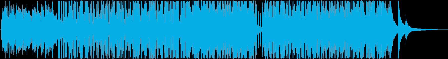 跳ねたリズムのかわいい系ピアノ曲の再生済みの波形