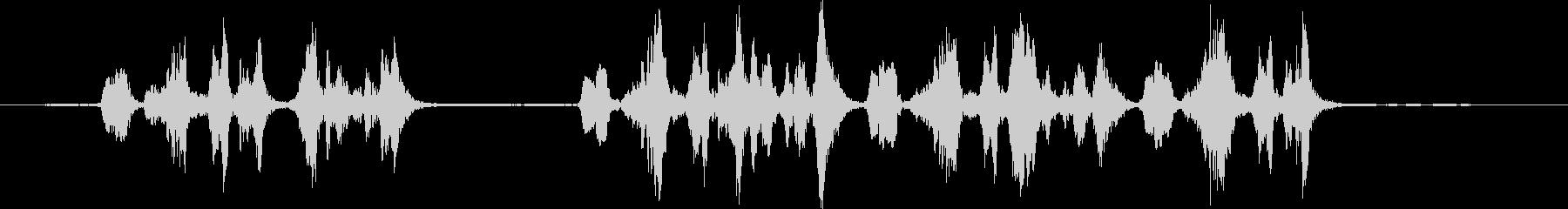 斑点を付けられたミソサザイ:呼び出し、鳥の未再生の波形