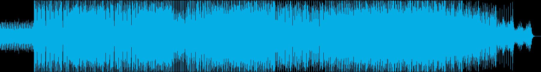 前向きな気持ちをイメージしたBGMの再生済みの波形