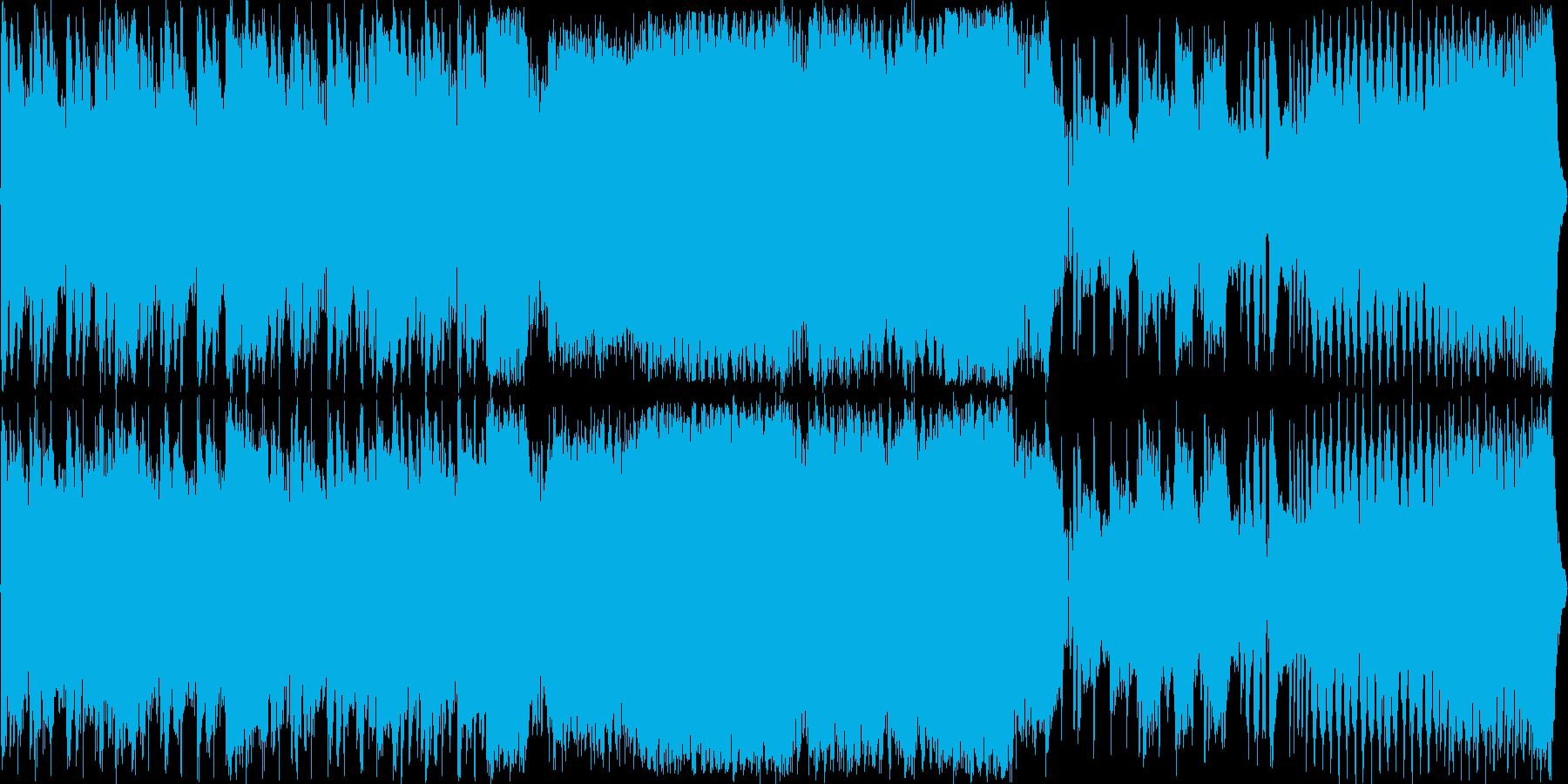 重厚でパワフルな戦闘用BGMの再生済みの波形