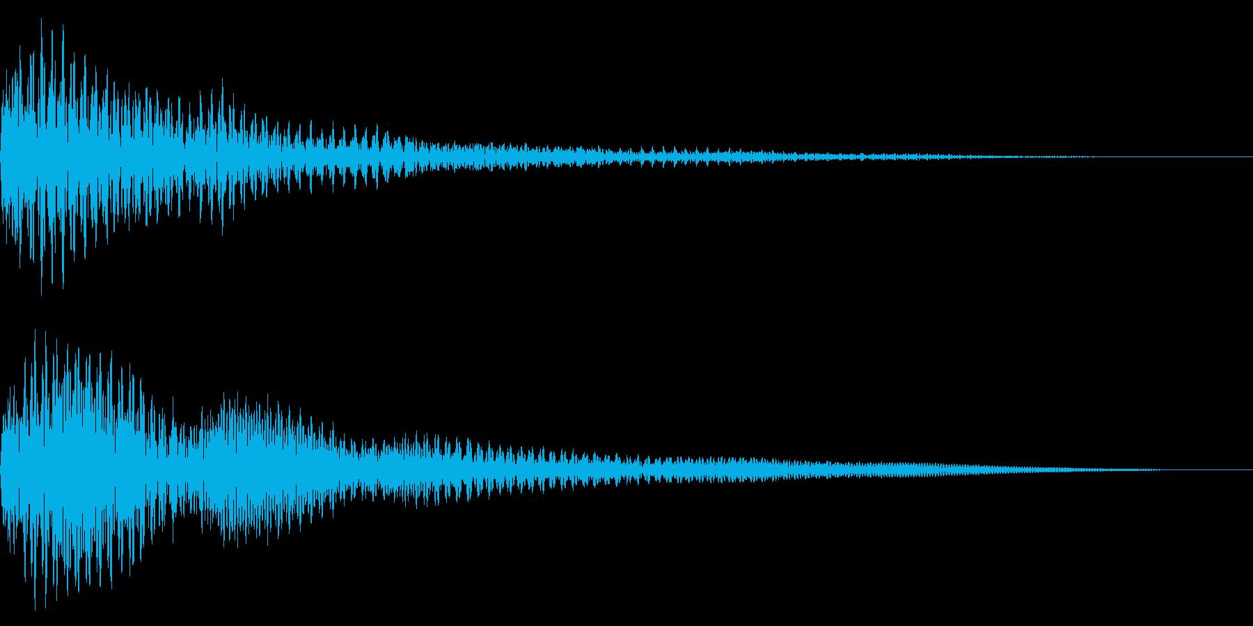 ホラー系アタック音113の再生済みの波形