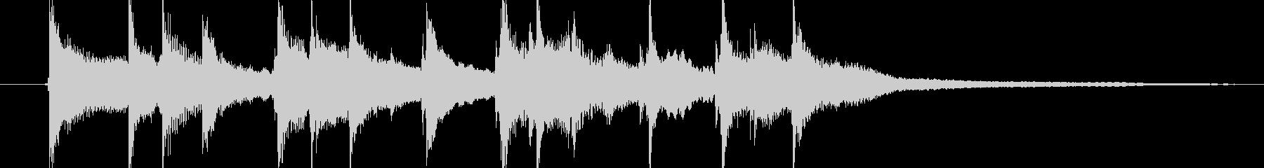 エスニックな3拍子のワルツの未再生の波形
