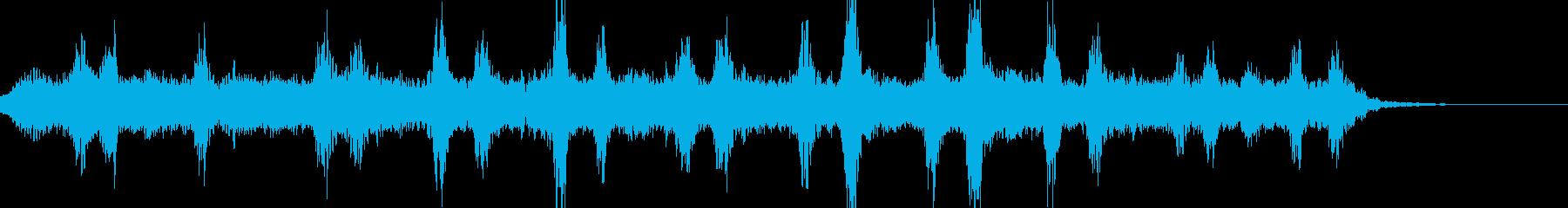 宇宙の映像のBGMに適した曲の再生済みの波形