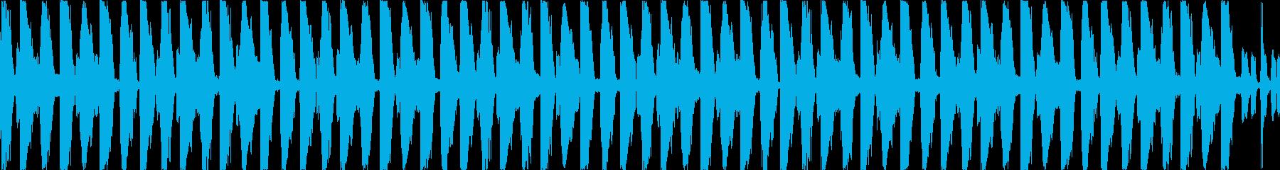 シンセサイザー、ファンキーなギター...の再生済みの波形