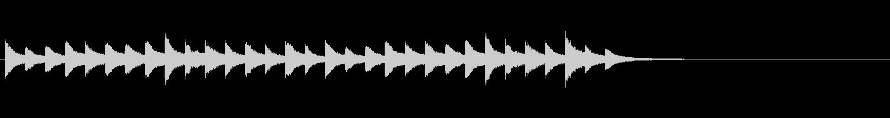 オルゴールの合図音、お知らせ、着信音の未再生の波形