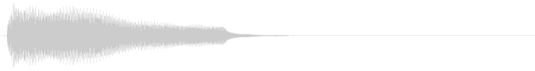 電子音系 タッチ音1(複)の未再生の波形