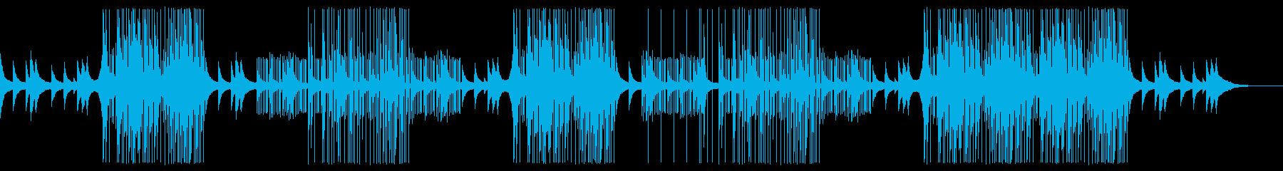メロディックな洋楽トラップビートの再生済みの波形