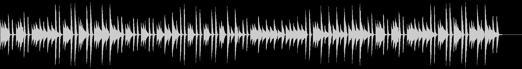 猫踏んじゃった【ピアノ】(スローテンポ)の未再生の波形