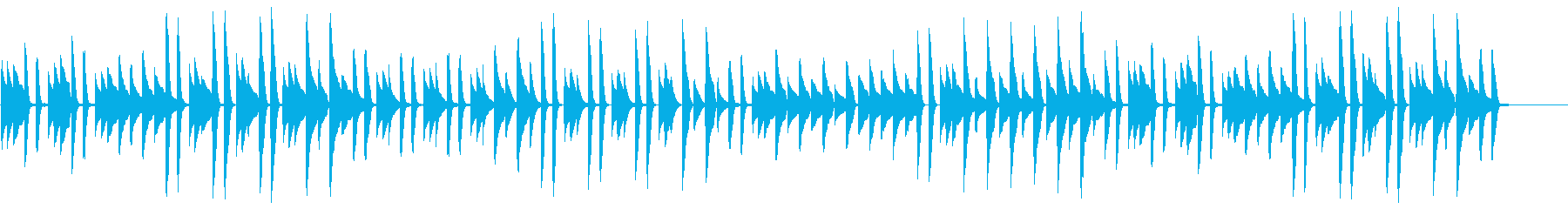猫踏んじゃった【ピアノ】(スローテンポ)の再生済みの波形