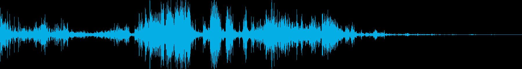 ゾンビの唸り声04の再生済みの波形