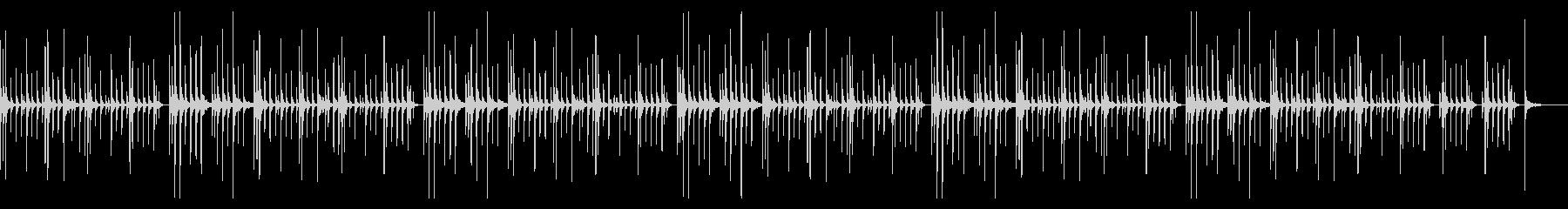 カリンバのみの未再生の波形