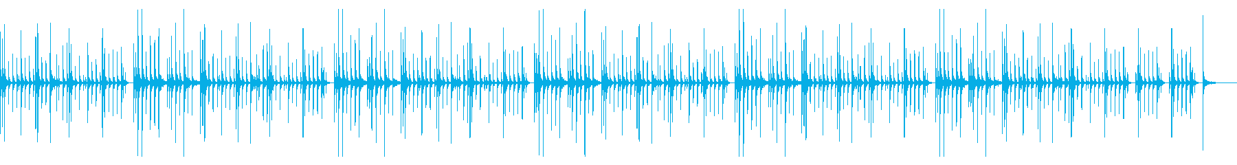 カリンバのみの再生済みの波形