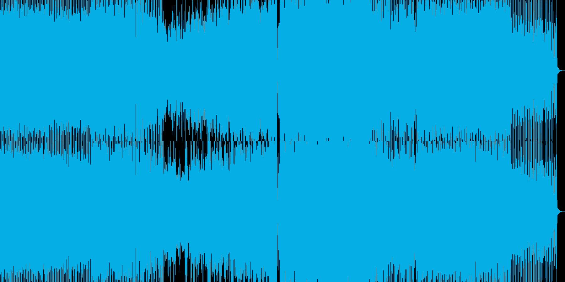プログレッシブトランス風のBGMの再生済みの波形