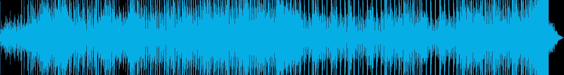 ダークな雰囲気のエレクトリックBGMの再生済みの波形