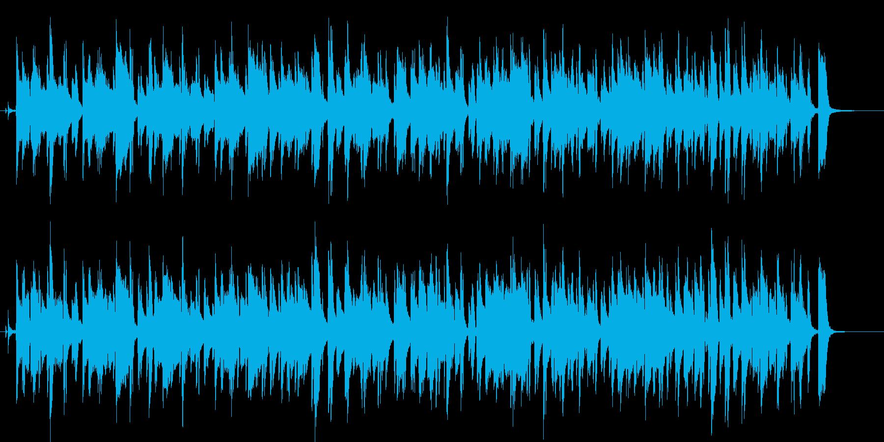 シンプルでほのぼのしたジャズブルースの再生済みの波形