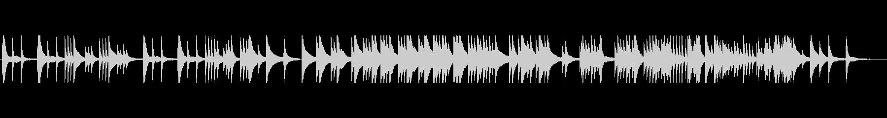 思い出 回想 癒し ピアノ 森林の未再生の波形