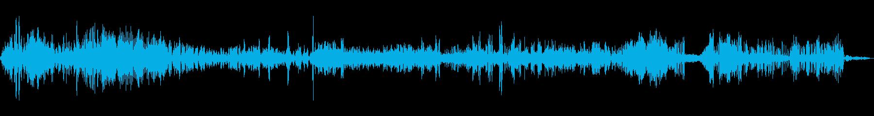 ヒバリのさえずりの再生済みの波形