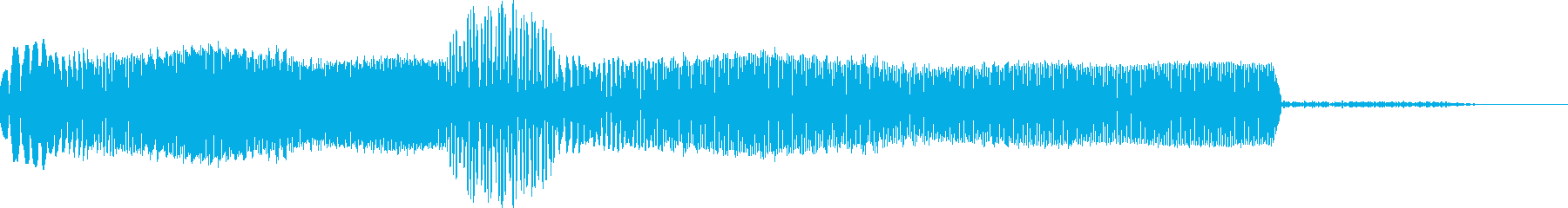 SF風 機械操作 選択音の再生済みの波形