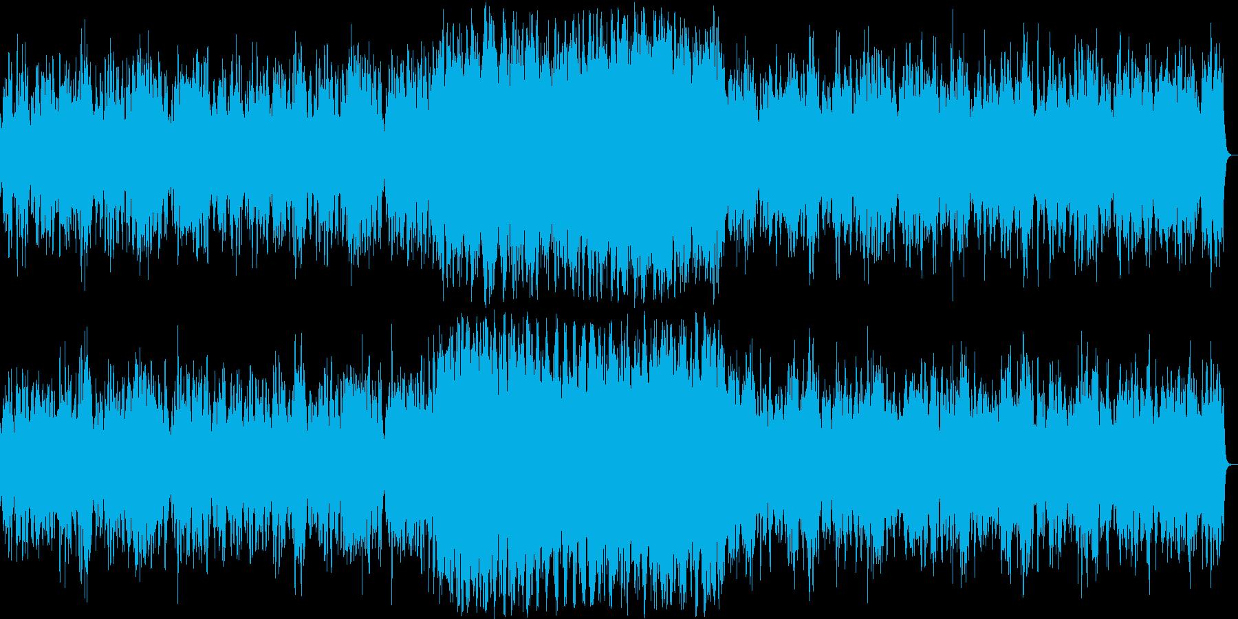 神聖な雰囲気のシンセサイザーサウンドの再生済みの波形
