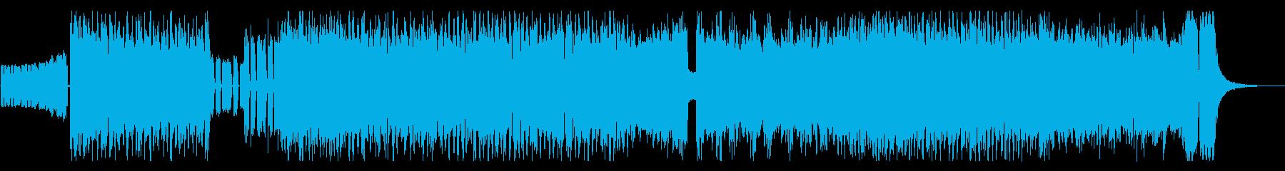 ワイルドでハードなロックジングルの再生済みの波形