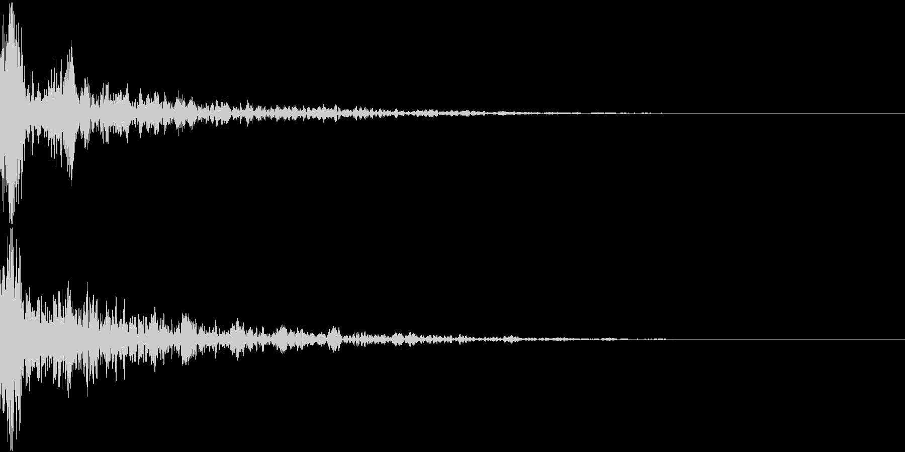 ドーン-14-2(インパクト音)の未再生の波形
