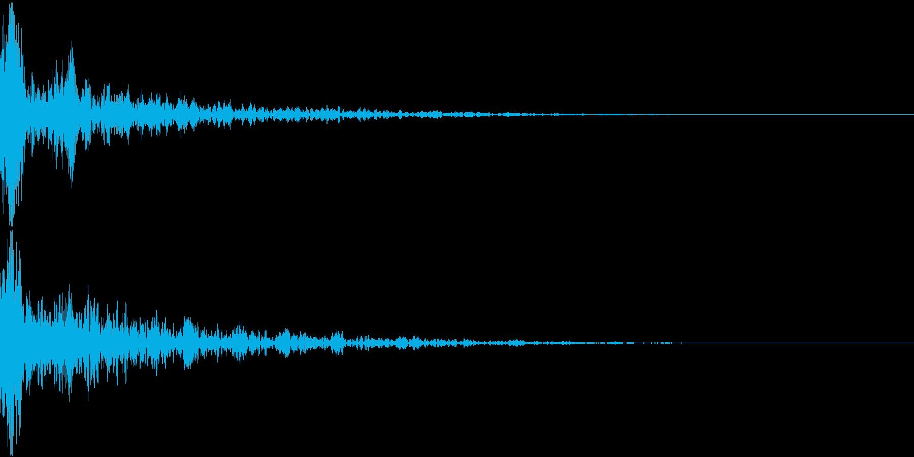 ドーン-14-2(インパクト音)の再生済みの波形