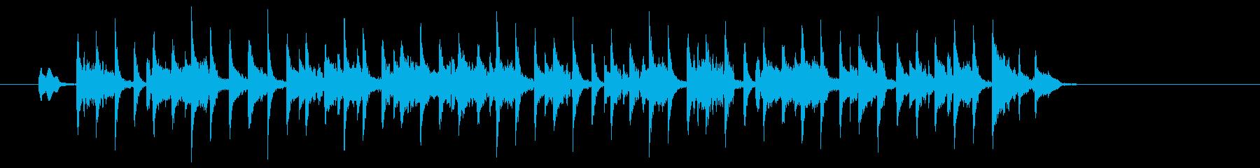 タイトで無機質な電子ミュージックの再生済みの波形