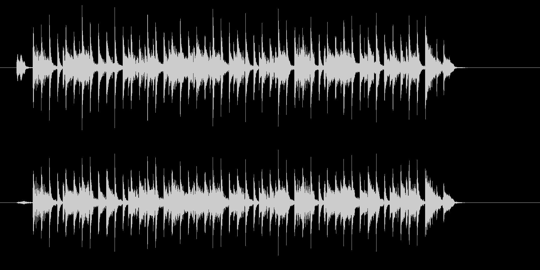 タイトで無機質な電子ミュージックの未再生の波形
