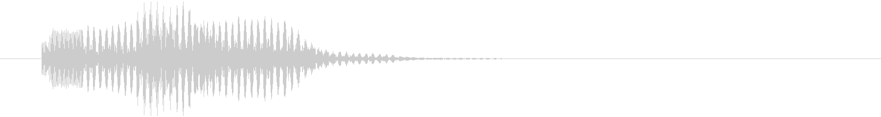 サイコ系の魔法発射の未再生の波形