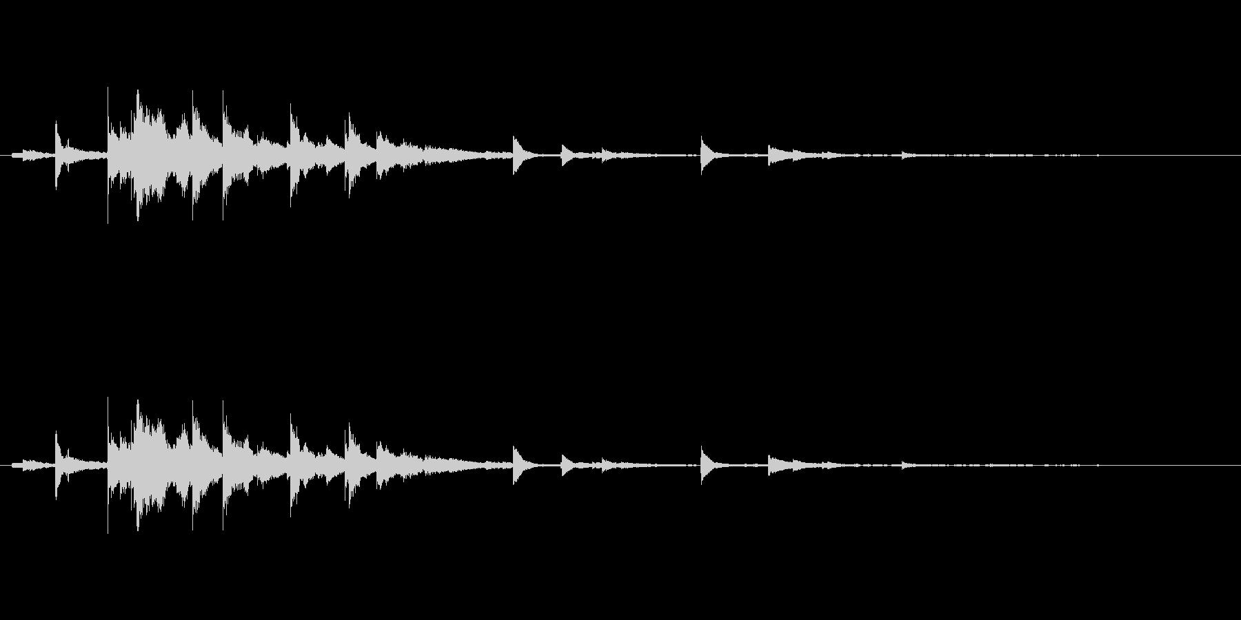 メタル 風鈴09の未再生の波形