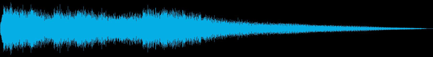 暗いハロウィンのジングルの再生済みの波形