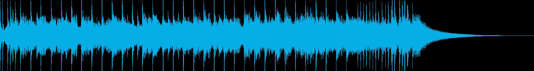 生演奏ギターのロックジングルの再生済みの波形