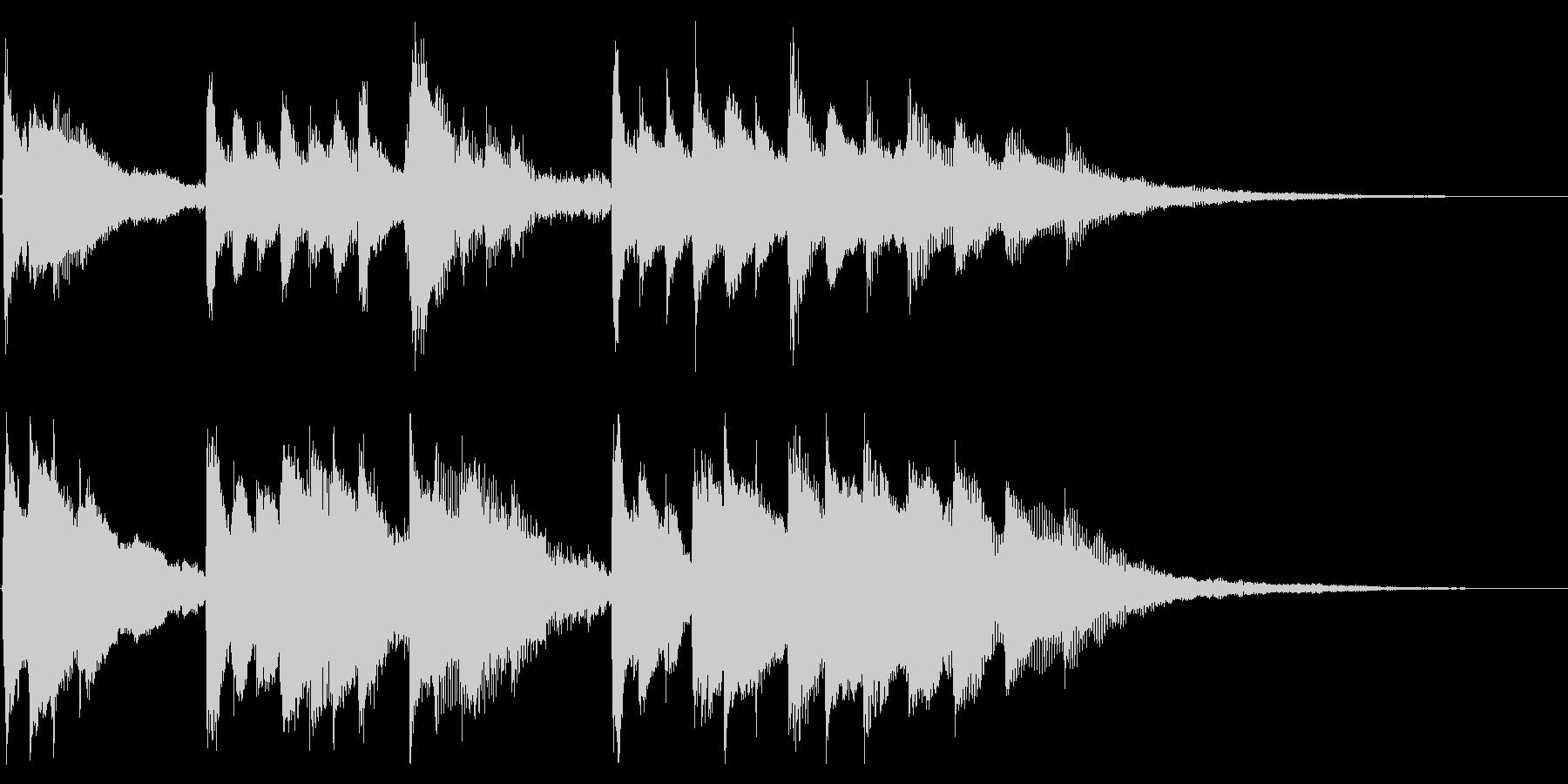 前向きで明るくキャッチーなピアノジングルの未再生の波形