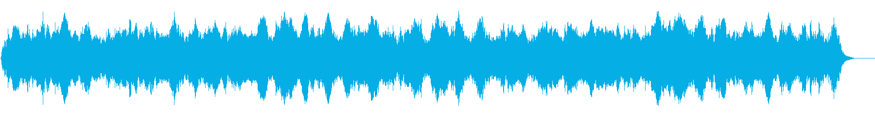 早朝の森に響き渡る静穏なアンビ系BGMの再生済みの波形