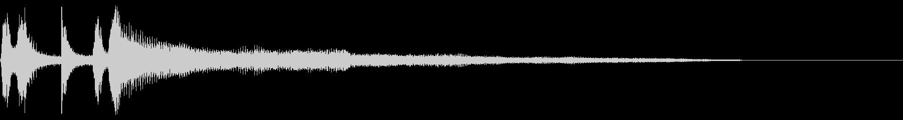 ストリングトレイルのリズムフィギュアの未再生の波形